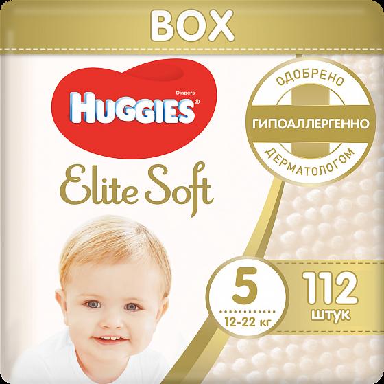 Подгузники huggies elite soft 5 (12-22кг) 112 шт